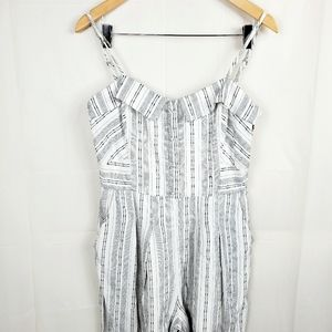 Anthropologie Greylin Jumpsuit Wide Cropped leg